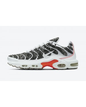 "DA9326-100 Nike Air Max Plus Essential ""Crater"" - Blanche/Rouge-Volt"
