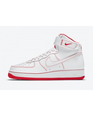 CV1753-100 Nike Air Force 1 High Chaussures - Blanche/Rouge