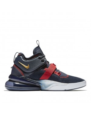 AH6772-400 Nike Air Force 270 Chaussures - Navy/Rouge/Or