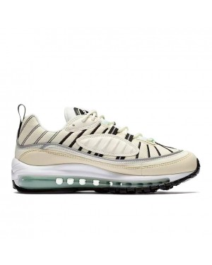 AH6799-105 Nike Femme Air Max 98 Chaussures - Sail/Fossil/Argent