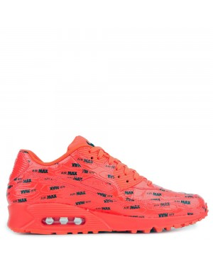 700155-604 Nike Air Max 90 Premium Chaussures - Bright Crimson/Noir