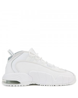 685153-100 Nike Air Max Penny Chaussures - Blanche/Blanche-Metallic Silver