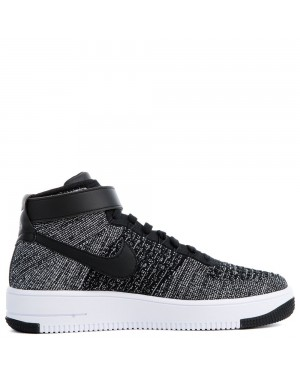 817420-004 Nike Air Force 1 Flyknit Chaussures - Noir/Blanche
