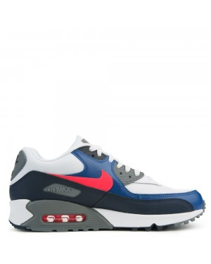 537384-135 Nike Air Max 90 Essential - Blanche/Rouge/Obsidian