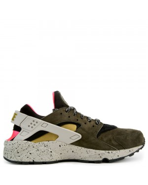 704830-010 Nike Air Huarache Run - Noir/Desert Moss-Rouge
