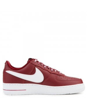 823511-605 Nike Air Force 1 '07 LV8 Chaussures - Rouge/Blanche