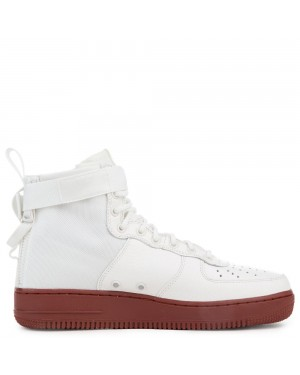 917753-100 Nike Sf Air Force 1 Mid Chaussures - Ivory/Ivory-Mars Stone