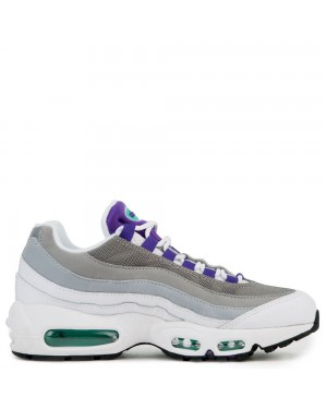 307960-109 Femme Nike Air Max 95 - Blanche/Violet-Vert