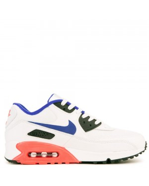 537384-136 Nike Air Max 90 Essential - Blanche/Ultramarine-Rouge