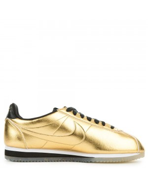 902854-700 Nike Femme Classic Cortez Leather SE - Metallic Gold/Blanche-Noir
