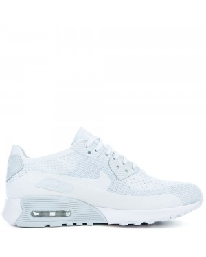 881109-104 Nike Air Max 90 Ultra 2.0 Flyknit - Blanche/Blanche-Pure Platinum