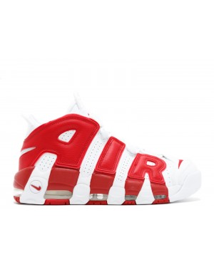 Nike Pippen Air More Uptempo Blanche/Rouge 414962-100
