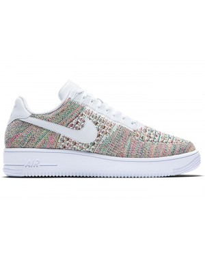 Nike Air Force 1 Flyknit Low Homme Chaussures Jaune/Bright Crimson/Blanche 817419-701