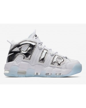 Nike Air More Uptempo Chrome Blanche/Chrome-Bleu Tint Femme | 917593-100