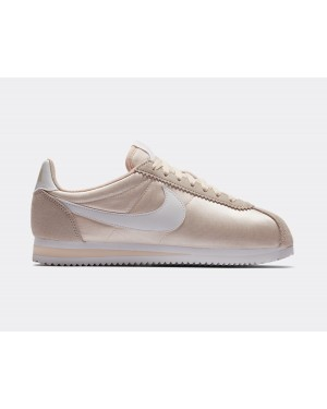 749864-803 Nike Femme Cortez Nylon Chaussures - Guava Ice/Blanche