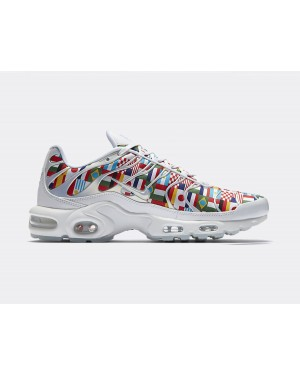AO5117-100 Nike Air Max Plus NIC QS Chaussures - Blanche/Multi-Color