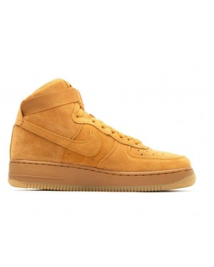 807617-701 Nike Air Force 1 High Lv8 GS - Wheat/Wheat-Marron