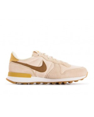 828407-209 Nike Femme Internationalist Chaussures - Beige/Marron/Jaune