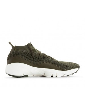AO5417-300 Nike Air Footscape Woven NM Flyknit - Cargo Khaki/Dark Stucco-Vert