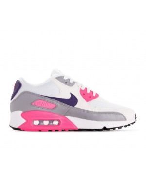 325213-136 Nike Femme Air Max 90 - Blanche/Violet-Grise-Rose