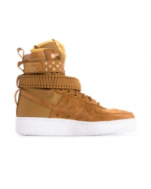 857872-203 Nike Femme Sf Air Force 1 - Muted Bronze/Muted Bronze-Blanche