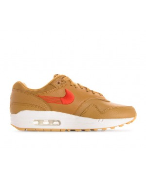 454746-701 Nike Femme Air Max 1 Premium - Wheat/Orange-Jaune