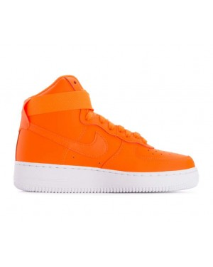BQ7925-800 Nike Femme Air Force 1 High LX Leather JDI - Orange/Blanche