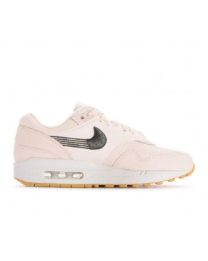 454746-800 Nike Femme Air Max 1 Chaussures - Guava Ice/Guava Ice-Jaune