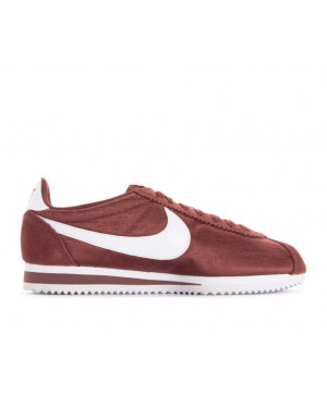 749864-203 Nike Femme Classic Cortez Nylon Chaussures - Rouge/Blanche