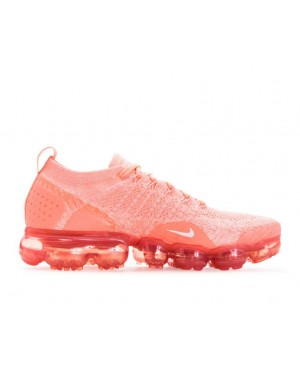 942843-800 Nike Femme Air Vapormax Flyknit 2 - Crimson Pulse/Sail/Coral Stardust