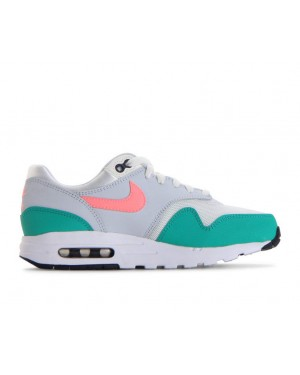 807602-105 Nike Air Max 1 GS - Blanche/Sunset Pulse/Vert