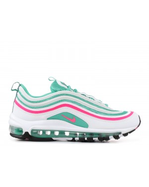 921522-101 Nike Air Max 97 GS Chaussures - Blanche/Rose/Vert