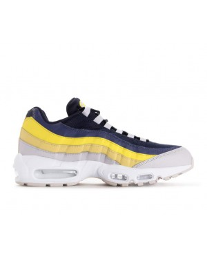749766-107 Nike Air Max 95 Chaussures - Blanche/Grise/Lemon Wash/Jaune