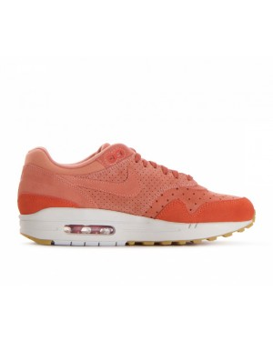 454746-603 Nike Femme Air Max 1 Premium Chaussures - Crimson Bliss/Crimson Bliss