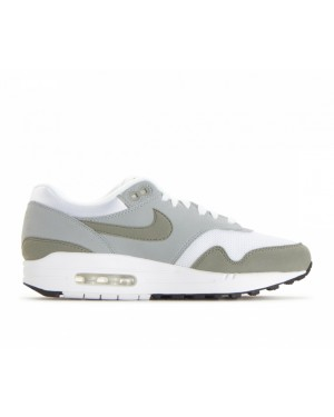 319986-105 Nike Femme Air Max 1 - Blanche/Dark Stucco/Light Pumice-Noir