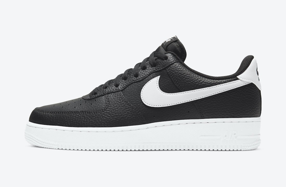 CT2302-002 Nike Air Force 1 Low Chaussures - Noir/Blanche
