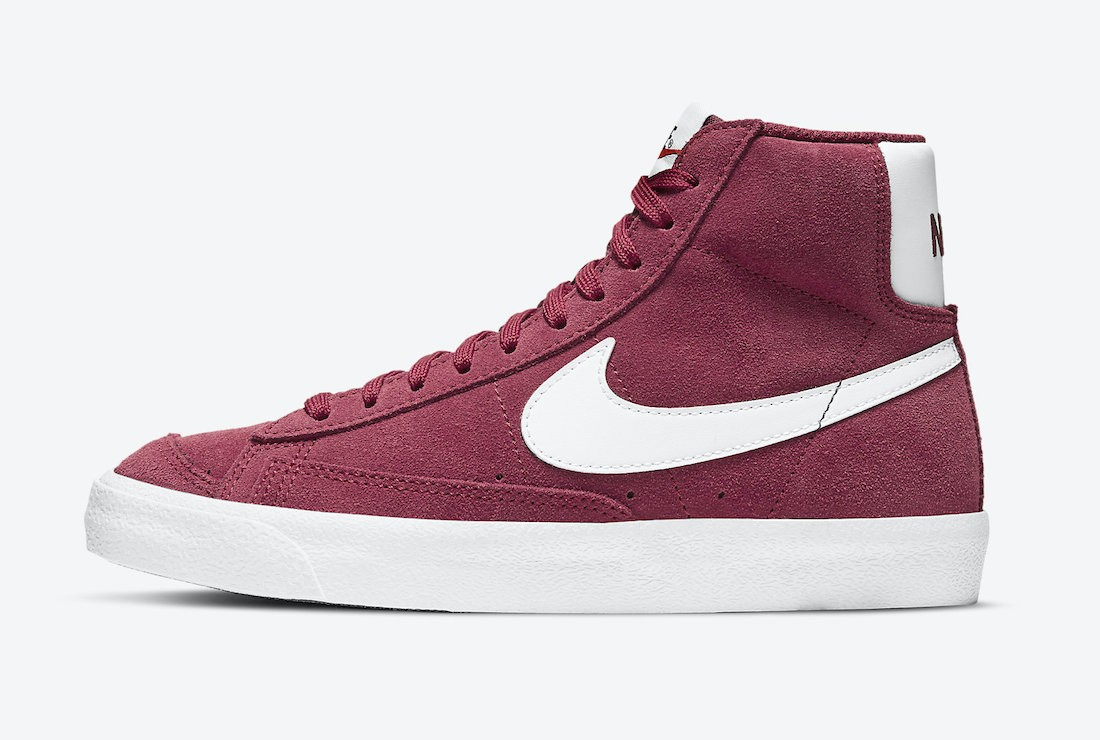 DC8248-600 Nike Blazer Mid Femme Chaussures - Rouge/Blanche