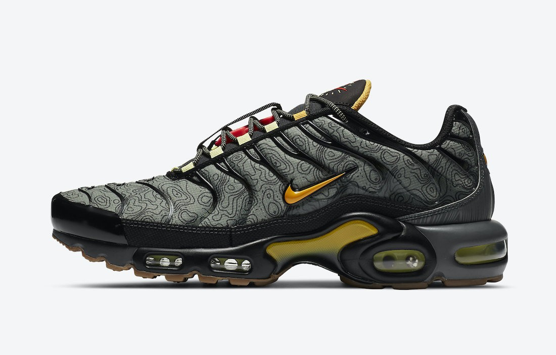"DC7392-300 Nike Air Max Plus ""Fresh Perspective"" Homme - Spiral Sage/Noir-Grise-Or"