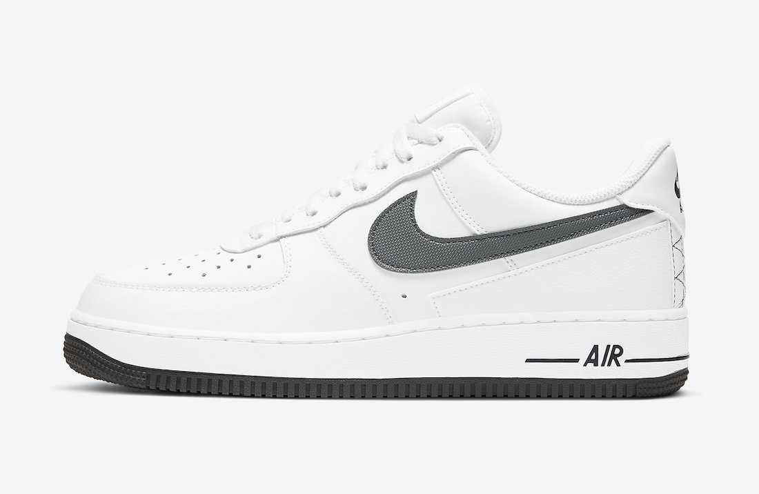 DD7113-100 Nike Air Force 1 Low Chaussures - Blanche/Grise-Noir