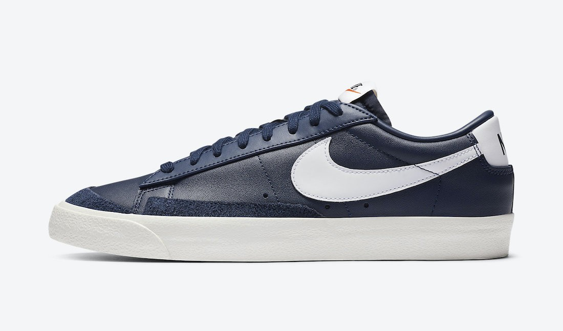 DA6364-400 Nike Blazer Low '77 Vintage - Midnight Navy/Blanche