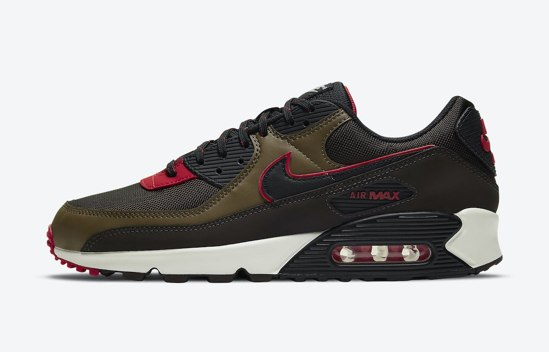 CT1686-200 Nike Air Max 90 Homme - Marron/Rouge-Marron