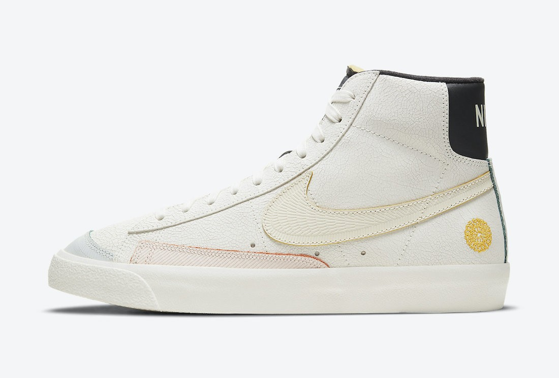 "DC5185-133 Nike Blazer Mid ""Day of the Dead"" Homme - Blanche/Noir"