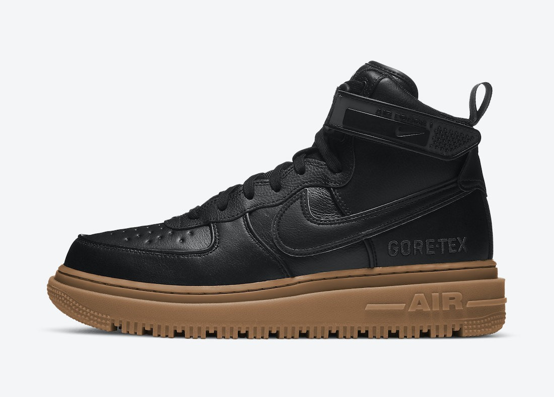 CT2815-001 Nike Air Force 1 Gore-Tex Boot Homme - Noir/Anthracite-Marron