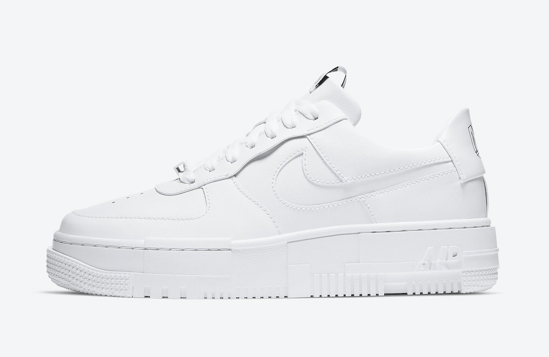 CK6649-100 Nike Femme Air Force 1 Pixel Chaussures - Blanche/Blanche-Back-Sail