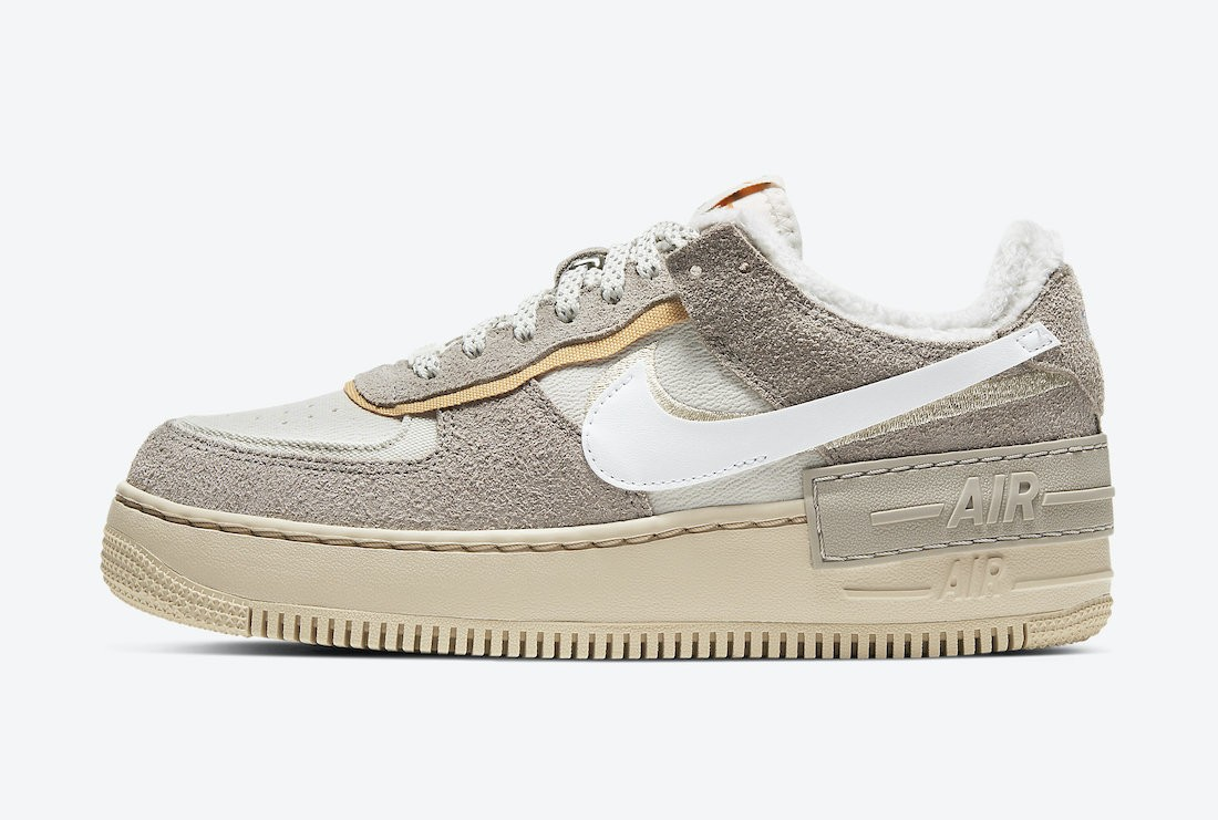 "DC5270-016 Nike Femme Air Force 1 Shadow ""Wild"" - Blanche/Light Bone"