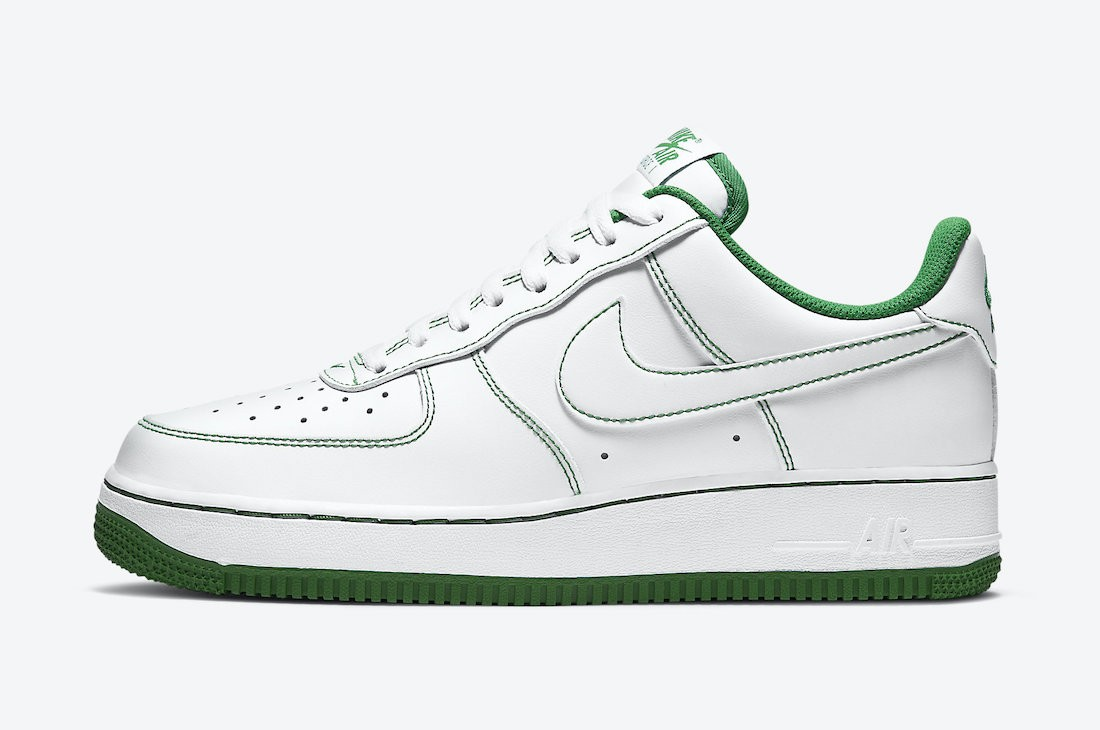 CV1724-103 Nike Air Force 1 Low - Blanche/Blanche-Vert