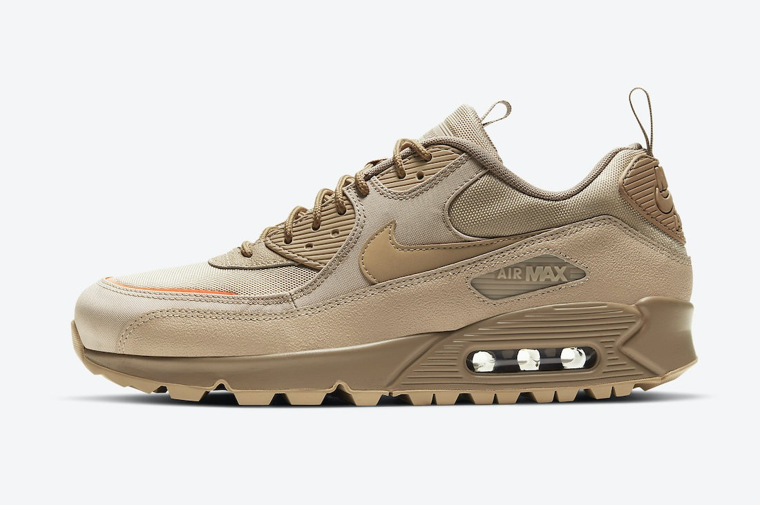 CQ7743-200 Nike Air Max 90 Surplus Homme - Desert/Desert Camo-Orange