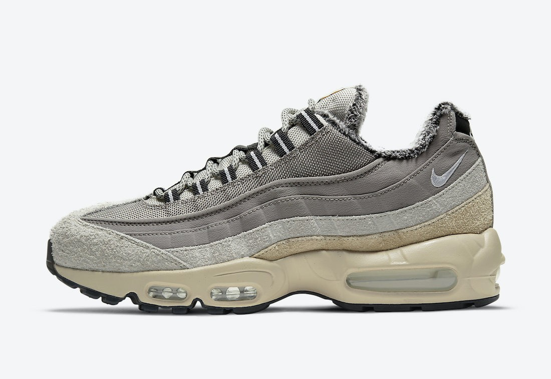"DC8099-016 Nike Air Max 95 SE ""Wild"" Homme - Enigma Stone/Blanche-Oatmeal"