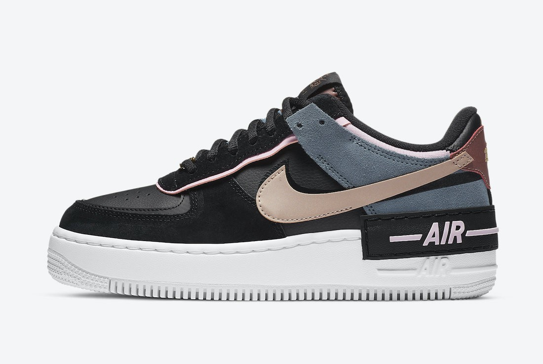CU5315-001 Nike Air Force 1 Shadow - Noir/Rose clair-Rouge