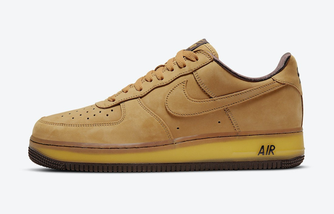 DC7504-700 Nike Air Force 1 Low Chaussures - Wheat/Wheat-Dark Mocha